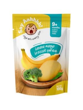 Say Aahhhh Banana Mango Broccoli Puree (100g)