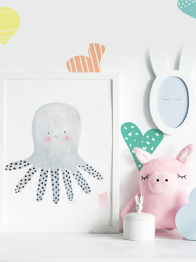 Baboo Basix A Heartful of Love Peel and Stick DIY Wall Decals