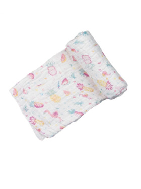 Swaddies PH Pink Fruits Multipurpose Muslin Cloth