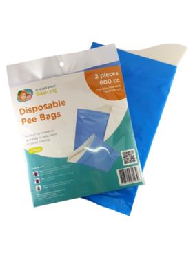 Orange & Peach Disposable Pee Bags (2 pcs)