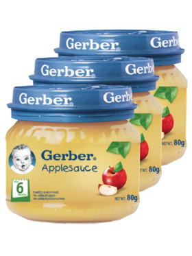 Gerber Gerber Applesauce (80g) Bundle of 3