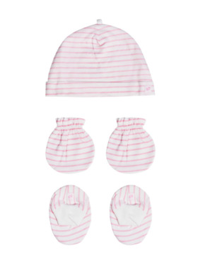 St. Patrick Mittens, Beanie, Booties Pack Stripes