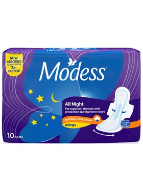 Modess All Night Sanitary Napkins (10s)