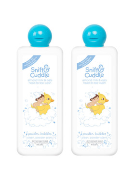 Sniff & Cuddle Almond Milk & Oats Head-to-Toe Wash Powder Bubbles 200mL (2-Pack)