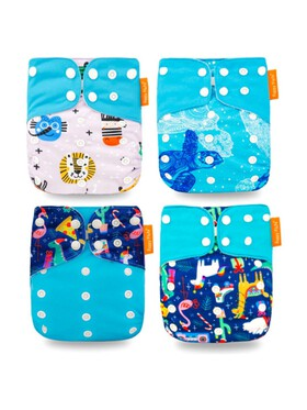 Happy Flute Animals Cloth Diapers