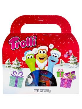 Trolli Assorted Gummy Candy Celebration Christmas Pack 77g (4-Pack)