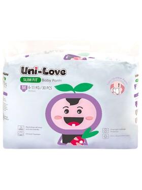Uni-love Slim Fit Baby Pants Medium (30pcs)