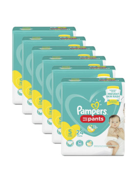 Pampers Baby Dry Pants Economy Small Bundle (6 x 24 pcs)- Subscription