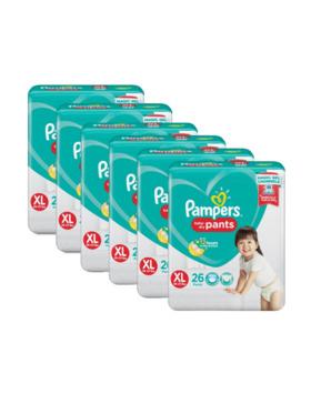 Pampers Baby Dry Pants Extra Large Bundle 6 x 26pcs (156 pcs)