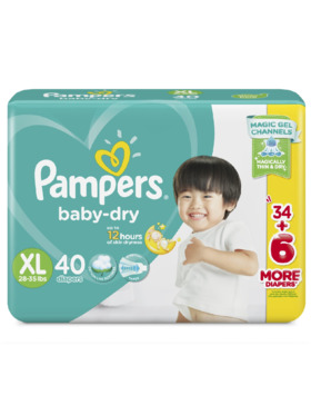 Pampers Baby Dry Taped Jumbo Extra Large (40 pcs)