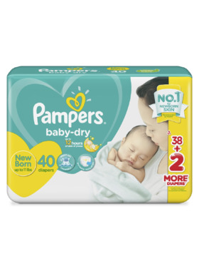Pampers Baby Dry Taped Value Newborn (40 pcs)