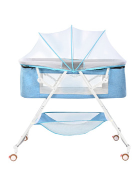 Juju Nursery Baby Bedside Co-sleeper Crib - Blue