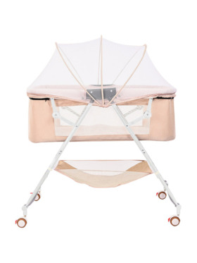 Juju Nursery Baby Bedside Co-sleeper Crib - Khaki
