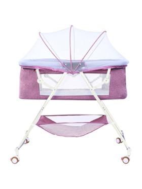 Juju Nursery Baby Bedside Co-sleeper Crib - Violet