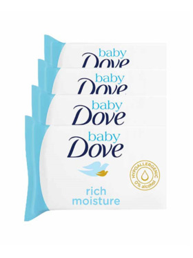 Baby Dove Wipes Rich Moisture 50 pulls (Bundle of 4)