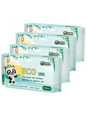 Bamboo Planet Eco-friendly Wet Wipes 4-Pack (160pcs)