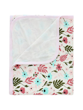Bamberry Baby Double-Layered Bamboo Stretch Floral Swaddle