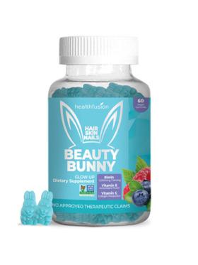 Health Fusion Beauty Bunny Gummies with 5,000mcg Biotin (60 pcs)