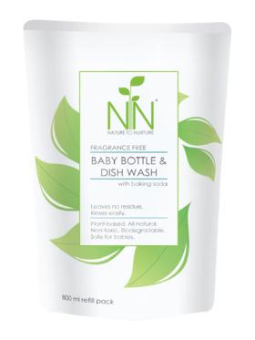 Nature to Nurture All Natural Baby Bottle & Dish Wash (800ml)
