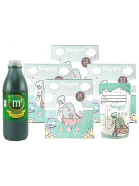 Snuggies Breastmilk Bag (4oz) Buy 4 and Get a Free 1 (300ml) M2 Malunggay Drink