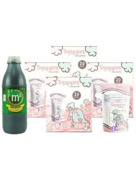 Snuggies Breastmilk Bag (7oz) Buy 4 and Get a Free 1 (300ml) M2 Malunggay Drink