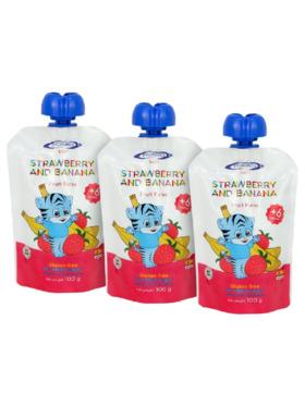 Pronuben Baby Baby Food Puree Strawberry & Banana (100g) Set of 3