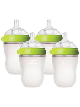 Comotomo Silicone Baby Bottle -Bundle of 4 (8oz)