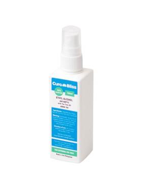 Curabliss 70% Ethyl Alcohol Green Tea Scent with Tea Tree Oil (100ml)