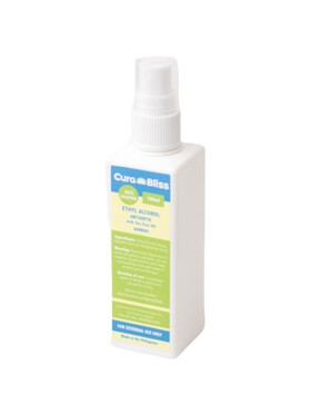 Curabliss 70% Ethyl Alcohol Bamboo Scent with Tea Tree Oil (100ml)