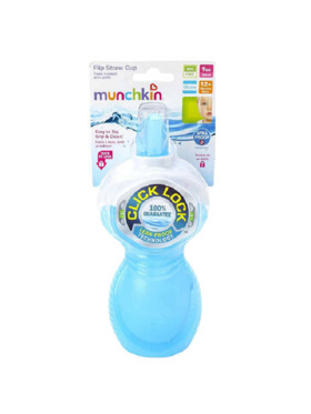 Munchkin Click Lock Flip Straw Cup (9oz)