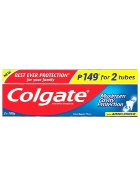 Colgate Maximum Cavity Protection Anti-Cavity Family Toothpaste 2-Pack (195g)