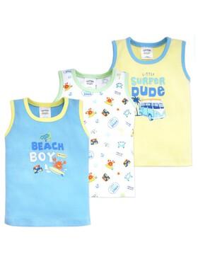 Cotton Stuff Sunny Days Collection Sando (3pcs) Boy
