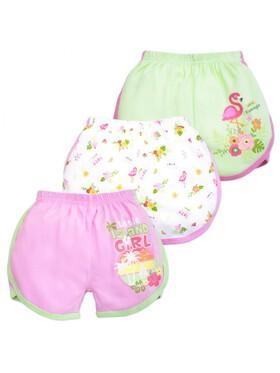 Cotton Stuff Sunny Days Collection Girly Shorts (3pcs)