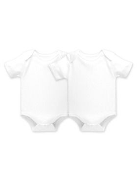 Cotton Stuff Short Sleeve Bodysuit (2pcs)