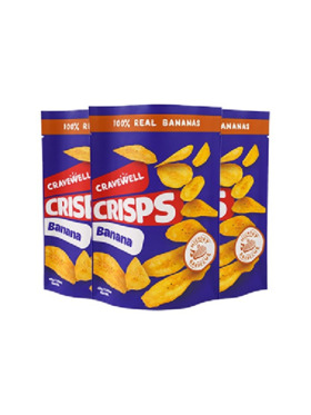 Cravewell Banana Crisps - Hickory Barbecue (3-Pack)