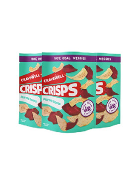 Cravewell Purple Root Crisps - Sour Cream & Onion (3-Pack)