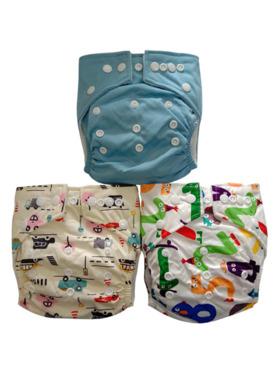 Next9 Boys Design Cloth Diapers (Set of 3)