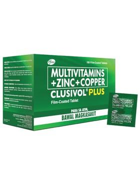 Clusivol Plus Multivitamins + Zinc + Copper Box (100s)