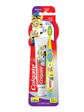 Colgate Minions Youth Toothbrush (5-9) + Minions Toothpaste (40g) Value Pack