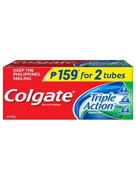 Colgate Triple Action Anti-Cavity Family Toothpaste Twin Pack (175g)