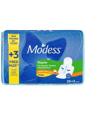 Modess Cottony Soft Maxi with Wings Sanitary Napkins (32s)-