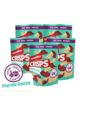Cravewell Root Crisps Sour Cream & Onion in High Five Bundle
