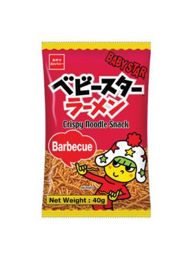 Baby Star Crispy Noodle Snack - Barbeque 40g (8-Pack)