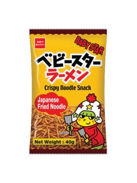 Baby Star Crispy Noodle Snack - Japanese Fried Noodle 40g (8-Pack)