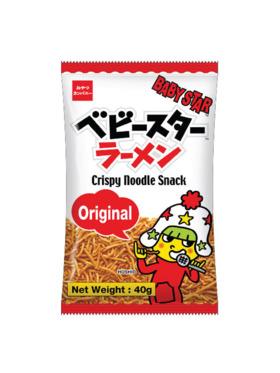 Baby Star Crispy Noodle Snack - Original 40g (8-Pack)