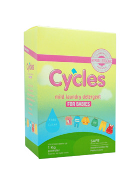 Cycles Mild Laundry Detergent for Babies Powder (1kg)