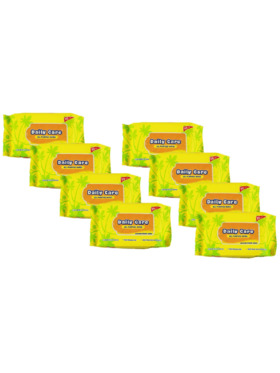 Daily Care Wipes All Purpose Wipes Powder-Fresh Scent (20 sheets) Pack of 8