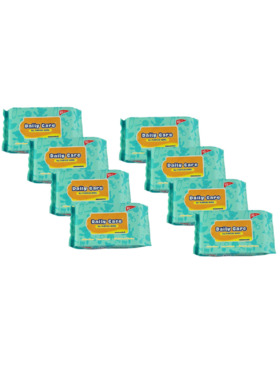 Daily Care Wipes All Purpose Wipes Unscented (20 sheets) Pack of 8