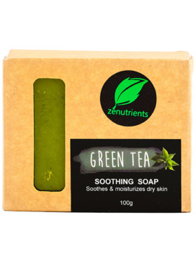 Zenutrients Green Tea Soothing Soap (100g)