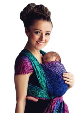 Littlefrog 100% Cotton Jacquard Weave Woven Wrap